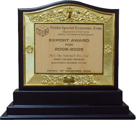Best Exporter in the field of Electronic Hardware for the year 2008-09
